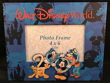 "Walt Disney World 2000 Picture Photo Frame 4"" x 6"" Blue Mickey Goofy Pluto"