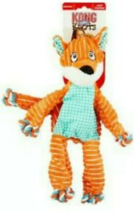 KONG Floppy Knots - FOX Med/Lg Dog Toy - Squeaks ROPE BODY w/Minimal Stuffing