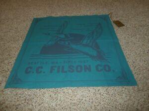 NWT  FILSON bandana USA 100% Handkerchief Marine Teal Waterfowl Duck
