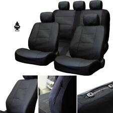 New Breathable Black PU Leather Car Truck Seat Covers Gift Set For Nissan