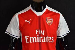 GUNNERS 2016-2017 Arsenal Puma Home  Football Shirt SIZE M (adults)