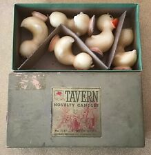 Vintage 1940's Set Of 5 Duck Tavern Candles In Original Box-All With Tags