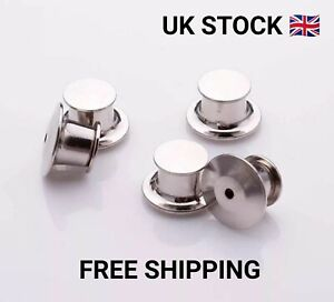 5 Silver Pin badge locking keepers. Secure butterfly backs. No tools needed