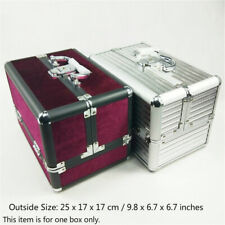 Make Up Box Large Space Case Nail Cosmetic Vanity Beauty Storage 25x17x17cm