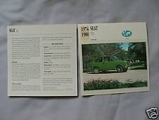 Seat 133 Collectors Classic Cars Card
