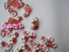 30pcs Cute Resin Red Strawberry Decoration Nail Art Decoration RC-15-1