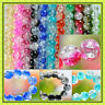 wholesale 60 / 100Pcs Crackle Art Crystal Glass Round Beads charm bead 8MM