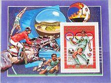 Libia libia 1988 bloque 110 a S/s 1348 Olympics 1988 seúl Soccer fútbol mnh