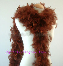 Chocolate Brown 65 Grams Chandelle Feather Boa Dance  Party Halloween Costume