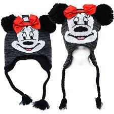 Disney Minnie Mouse Beanie Laplander Hat  Kint  with Ear Flap (Teen-Adult)