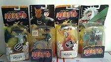 NEW 4 SHONEN JUMP Naruto action figure lot Mattel 2002 ROCK LEE SHINO JIRAIYA
