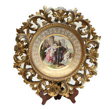 Royal Vienna Porcelain Framed Cabinet Plate Lohengrin's Abschied, circa 1900