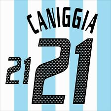 Caniggia 21. Argentina Home football shirt 2002 - 2003 FLEX NAMESET NAME SET