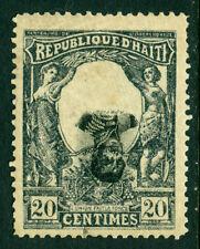 HAITI  1903 Cent. of Independence  20c slate & black Sc# 87 MH - INVERTED CENTER