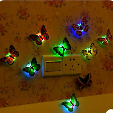 10pcs 3D Butterfly LED Wall Stickers Lights Home DIY Family Art Decoration Kids