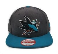 San Jose Sharks New Era 9Fifty 2 Tone Heather Graphite Snapback NHL