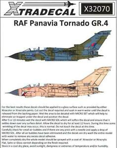 Xtra Decals 1/32 PAVAVIA TORNADO GR.4 British Jet Fighter