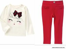 GYMBOREE NWT HOLIDAY SHOP TOP / PONTE RED PANTS SIZE 2T
