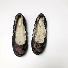 SAM EDELMAN Brocade Embroidered Bird Flats Womens Size 6