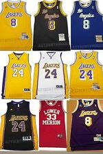 Kobe Bryant Los Angeles Lakers #8 and #24 Retro Throwback Basketball Jersey Mens