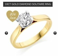 Gold Solitaire Very Good Cut Fine Diamond Rings