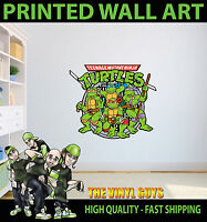 RETRO TEENAGE MUTANT NINJA TURTLE CHARACTERS WALL ART STICKER DECOR VINYL