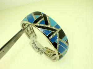 BELLE ETOILE DELANO BRACELET WITH BLUE/BLACK ENAMEL - NEW - RETAIL $525.00
