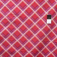 Zandra Rhodes Feathered PWZR017 Check It Berry Cotton Fabric By Yd