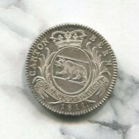 CANTON BERN - SPECTACULAR HISTORICAL RARE SILVER 1 FRANK, 1811, KM# 174
