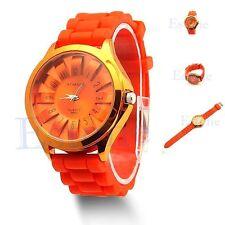 Unisex Men Women Jelly Watch Stylish Rubber Silicone Quartz Sports Watch