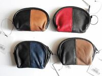 NEWLUXURY SUPER SOFT LADIES COIN PURSE GENUINE PATCHWORK  LEATHER ZIP TOP POUCH