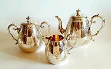 Beautiful 19C Antique Russian Silver Tea Set Gilded 1863