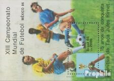 Brazil block68 (complete.issue.) unmounted mint / never hinged 1985 Football WM
