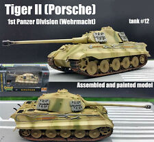 Easy Model WWII German Tiger II Tank 1st Panzer Division Wehrmacht 1:72 finished