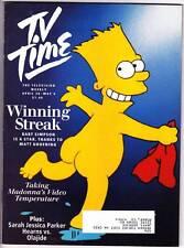Matt Groening SIMPSONS interview in TV TIME magazine April 28, 1990.