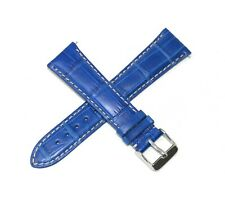22MM Genuine Alligator Leather Skin Watch Strap Band COOL BLUE Made in USA NEW