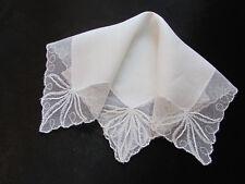 Vintage White Wedding Net Lace Hankie