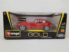 """Bburago Gold Collezione 1961 Jaguar """"E"""" Coupe 1:18 Red MC1"""
