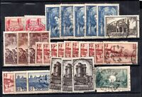 France 1938 Pictorial collection to 20f (odd one mint multiples) WS20991