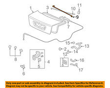 Acura HONDA OEM 04-06 TL Trunk Lid-Torsion Rod Right 74871SEPA00ZZ