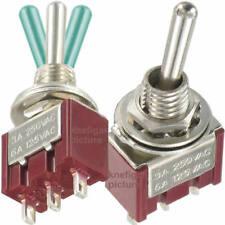 1St Qualitäts Miniatur Kippschalter 1x TAST-AUS-TAST 3/6A 250/125V AC <36V 3A DC