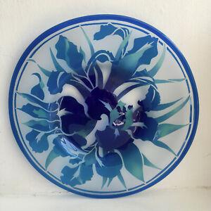 ANITA PATE CONTEMPORARY SCOTTISH STUDIO GLASS ARTIST PLATTER 28/50