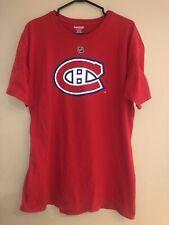 MONTREAL CANADIENS #8 MIKE KOMISAREK OFFICIAL REEBOK NHL HOCKEY T-SHIRT RED