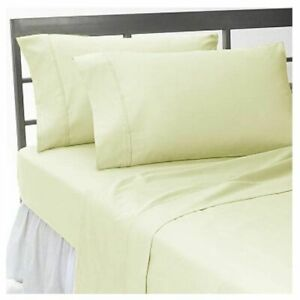 1000 TC EGYPTIAN COTTON IVORY SOLID SINGLE,KING,SUPER FITTED,FLAT,DUVET,SHEETSET