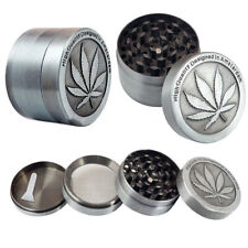 New 4 Piece Herbal Alloy Metal Chromium Crusher Herb Spice Grinder