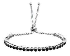 AQILA Damen Armband Schwarzer Onix 925 Silber universalgröße