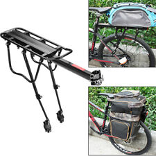 Rear Road Bicycle Rack Cargo Rack Quick Release Alloy Carrier 110 Lb Capacity