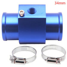 BLUE Water Temp Sensor Temperature Joint Pipe Gauge Radiator Hose Adapter 34MM