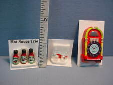 Deli Items (3 diff) Handcrafted - Dollhouse Miniatures