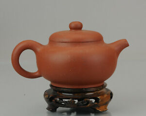 Antique Chinese 20th century Zisha Yixing Teapot China Brown